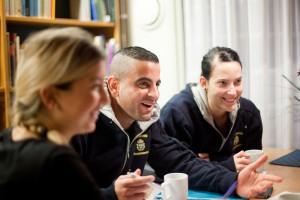 Studerande på polisförberedande utbildning